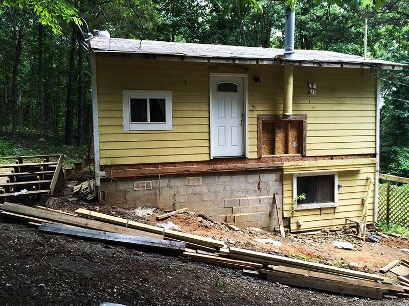 Cabin - porch tear-off